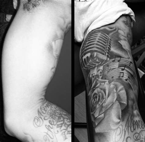 microphone tattoo arm 28 microphone tattoos on sleeve