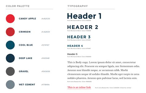 style guide how to create a web design style guide designmodo