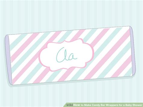 Chocolate Wrappers For Baby Shower by How To Make Bar Wrappers For A Baby Shower With