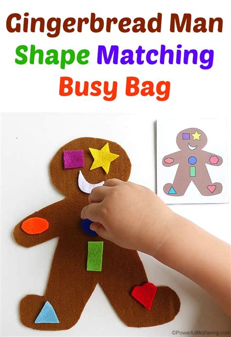 gingerbread man matching game printable gingerbread man shape matching busy bag
