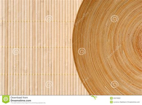 define wood high definition round wooden dish on bamboo stock