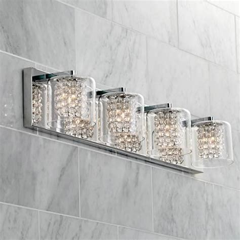 possini bathroom lighting possini euro coco 4 light 28 1 2 quot w clear crystal bath