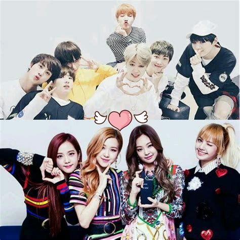 blackpink dan bts bts and blackpink bta and blackpink pinterest