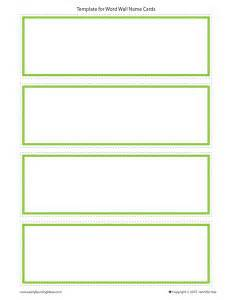 name cards make name cards for your word wall early