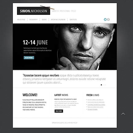 personal site template free personal website templates e commercewordpress
