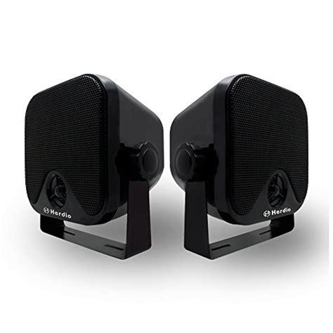 surface mount boat speakers herdio 4 inch compact marine stereo waterproof box