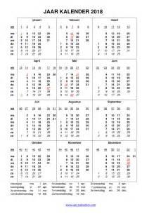Suriname Kalendar 2018 Feestdagen 2018