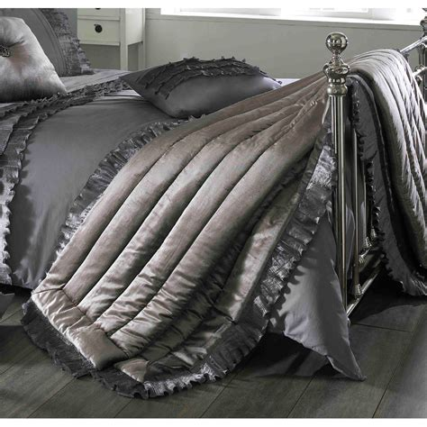 bed throws kylie ionia kitten grey quilted bed throw next day