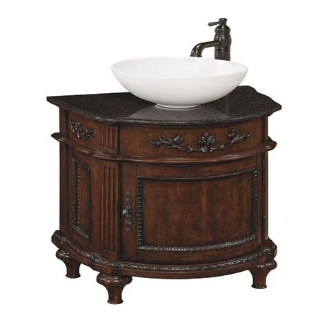 bathroom vanities bc style selections 80151 vinton sienna vessel single sink