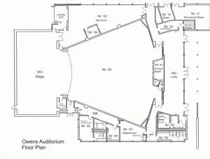 Owens Auditorium Seating Chart & Floor Plan   Sandhills
