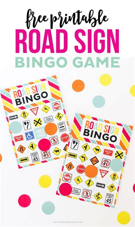 printable road sign bingo 25 free printables for a super fun family road trip