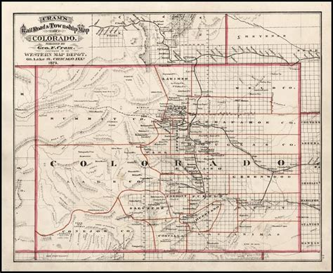 cram s rail road township map of colorado 1875