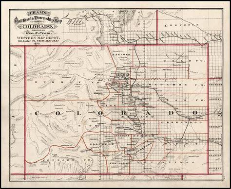 railroad map of colorado cram s rail road township map of colorado 1875
