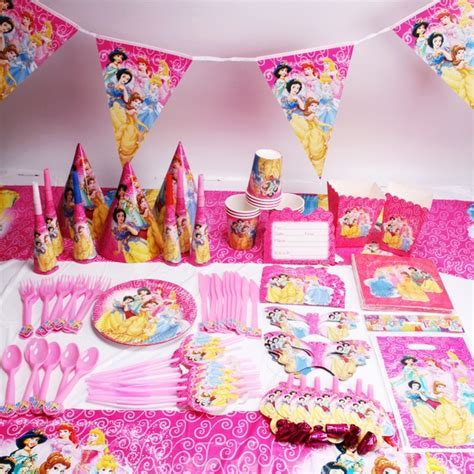 135pcs/lot Princess Party Favors Children Birthday Party