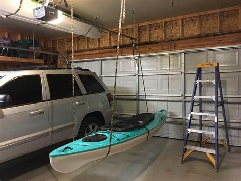garage kayak storage how to store a kayak quick tips solutions kayak best