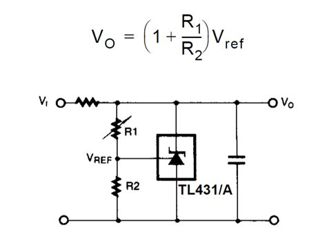 shunt resistor diagram how shunt regulator tl431 works datasheet application circuits explained