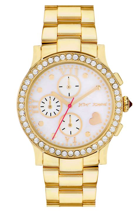 Betsey Johnson Time by Betsey Johnson Bling Bling Time Bracelet In Gold Lyst