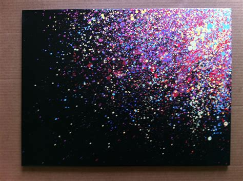 painting with glitter 18x24 paint splatter canvas