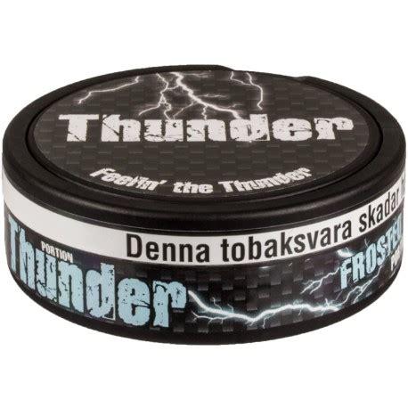 Thunder Nrg Portion Swedish Snus 1 Can thunder strong frosted portion snus