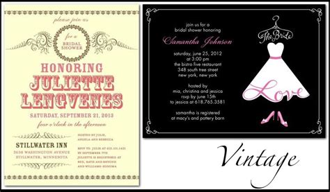 vintage inspired wedding shower invitations wedding invitations by style bridal shower stationery for vintage brides