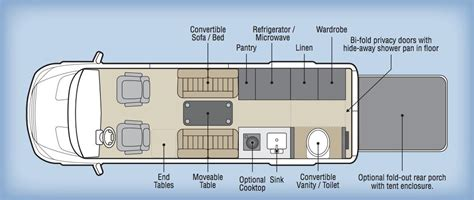 class b rv floor plans specifications embassy class b rv svo inc