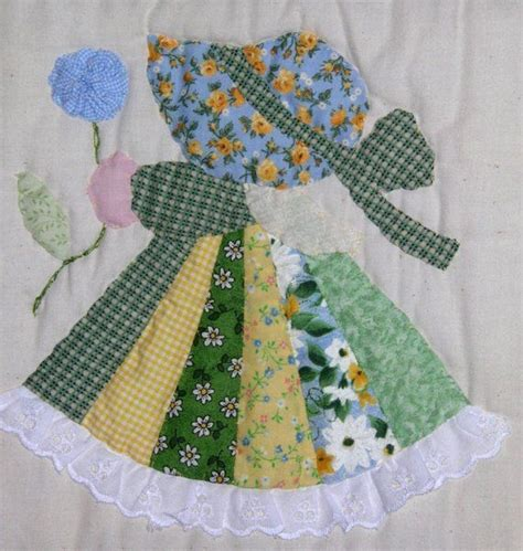 patchwork applique patterns fancy sunbonnet sue quilt via etsy sunbonnet sue