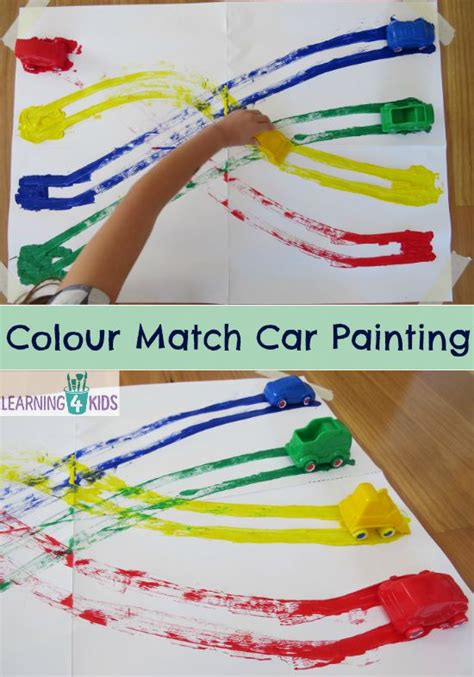 painting learning colour match cars painting learning 4