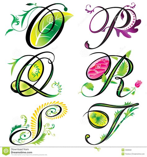 alphabets elements design s stock vector image 4026502