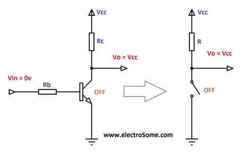 transistor as a high voltage switch transistor as a switch
