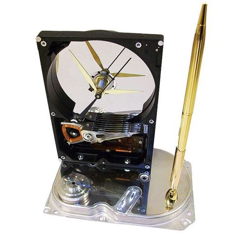cool office gifts pen holder hard drive clock cool office gift teacher