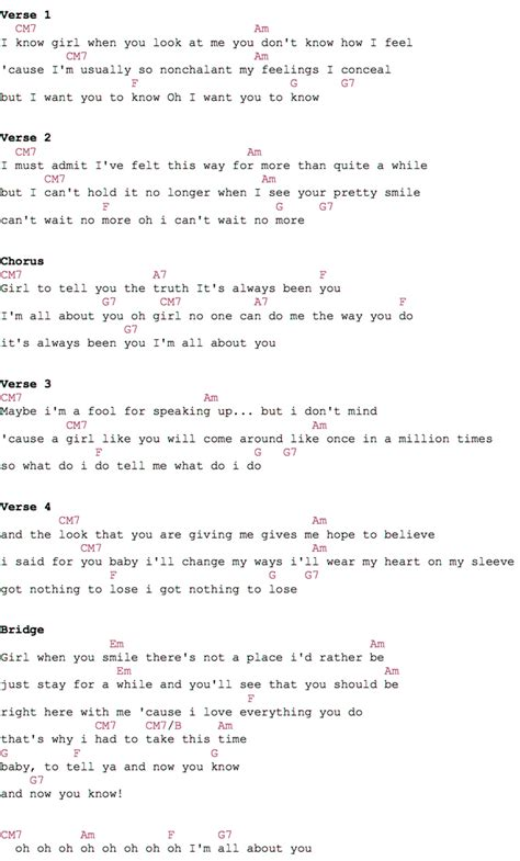 testo bruno mars bruno mars all about you guitar chords