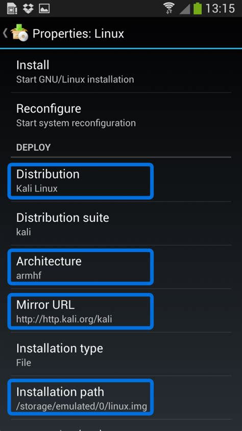 tutorial linux android kali linux on android using linux deploy kali linux