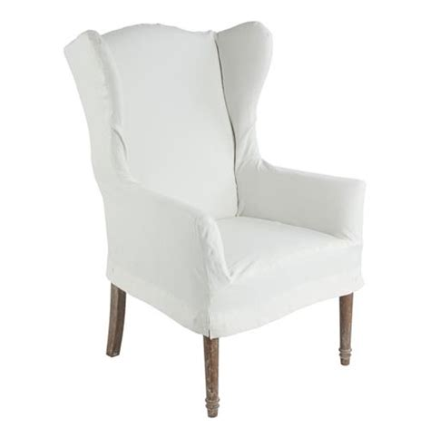 eli french country wing  dining arm chair slip cover
