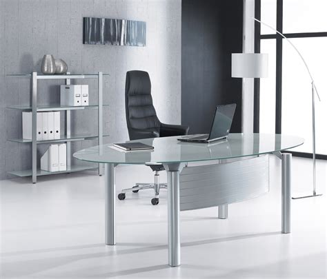 minimalist office table minimalist oval glass office desk for executive