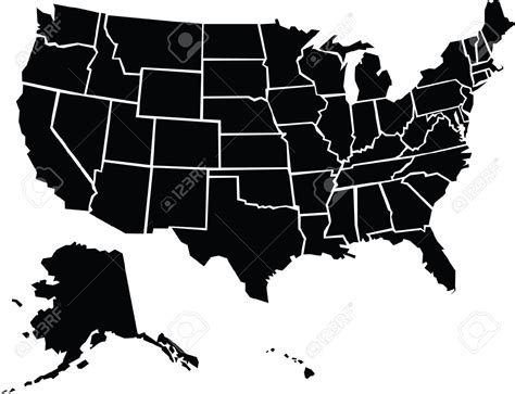 outline map of us with alaska and hawaii us map with alaska silhouette cdoovision