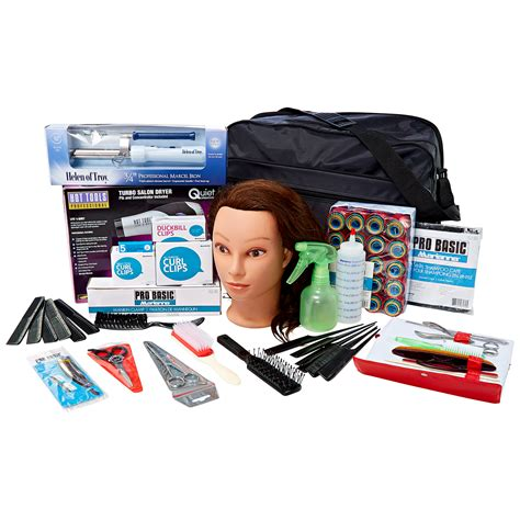 hair and makeup kit soft side beauty school kit with hairdryer