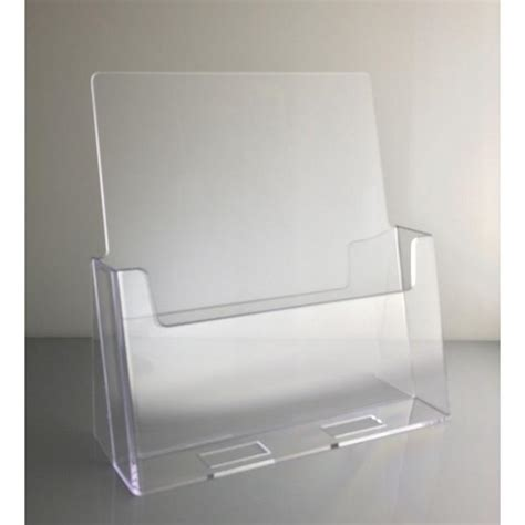 One Shanks Acrylic Stand 2d clear acrylic 8 5 quot x 11 quot countertop brochure holder dazzling displays inc