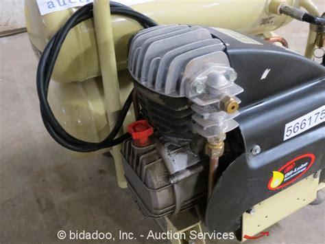 2009 ingersoll rand dd2t2 bi tank portable air compressor 4 4 cfm 2 hp ebay