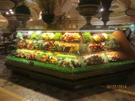 artificia fruit and veggies at entrance picture of feast buffet at green valley ranch