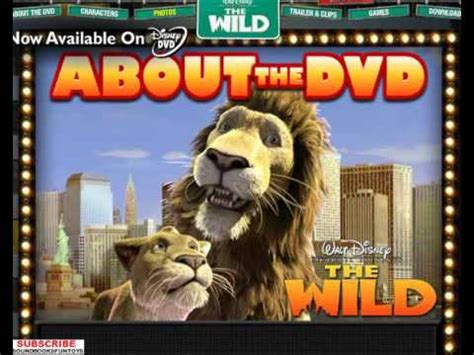 film disney wild disney s the wild dvd promo menu walkthrough disney lion