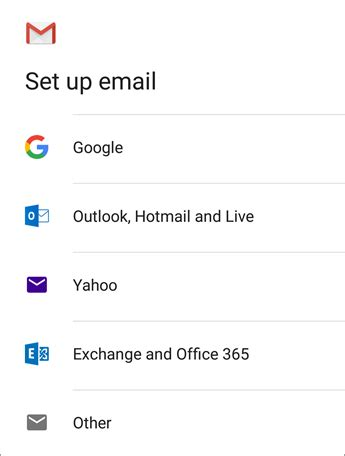 setup exchange email on android set up email in android email app office support