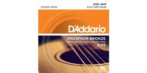 light guitar strings for beginners d addario ej15 phosphor bronze light acoustic guitar
