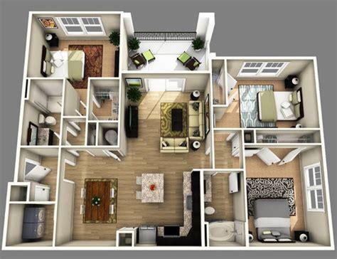 20 gambar denah rumah minimalis dengan 3 kamar tidur istimewa desain rumah unik