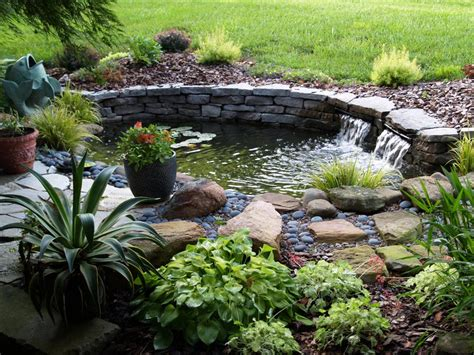 diy small pond backyard design ideas