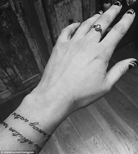 tattoo bracelet online abbie cornish admires new tattoo bracelet of poet keat s