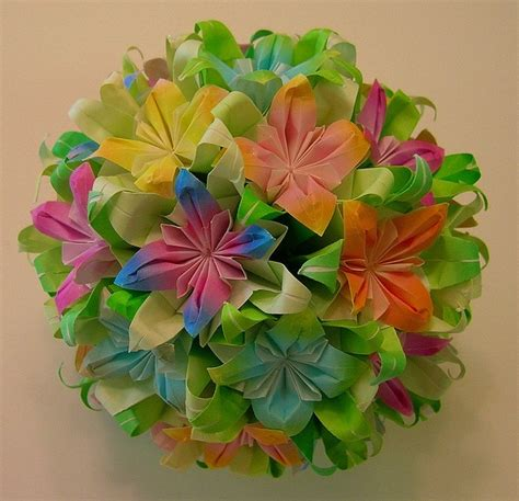 origami flower bouquet pretty things