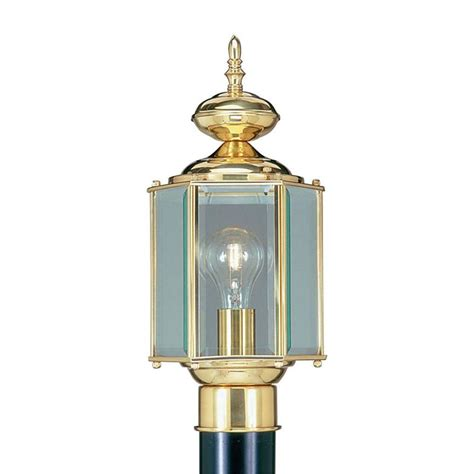 polished brass outdoor post lights livex lighting providence 1 light outdoor polished brass