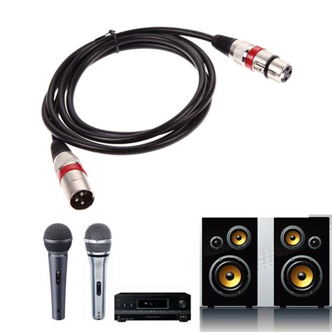 Kabel Micxlr 3 Pin To 3 Pin 50 Meter 1 8 3 8 10m xlr cable to m f 3pin audio cable for microphone mixer mic shielded