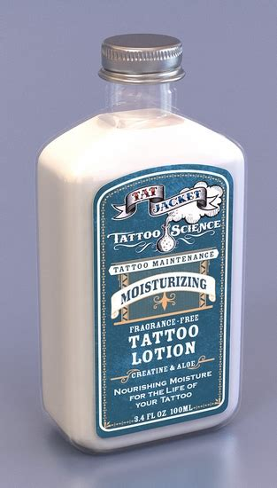 Tattoo Lotion Fragrance Free | tattoo science moisturizing tattoo maintenance lotion