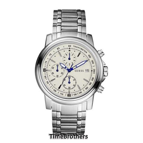 Guess Merica New 1 new guess for silver white stainless steel chronograph u15081g1 91661406331 ebay